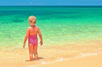 список вещей на море с ребенком 2-3 года