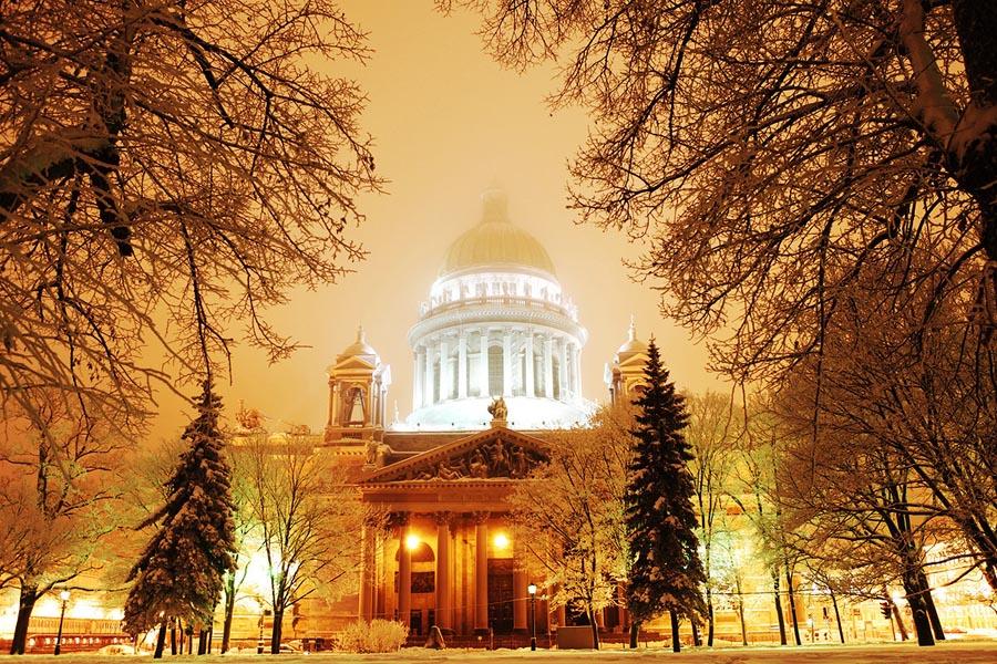 экскурсии по СПб зимой