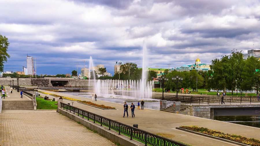 Исторический сквер и Плотинка
