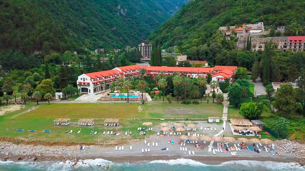 Отели Абхазии на первой линии
