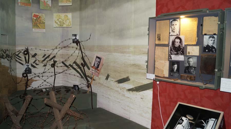 Экспонат музея героев Эльтигена