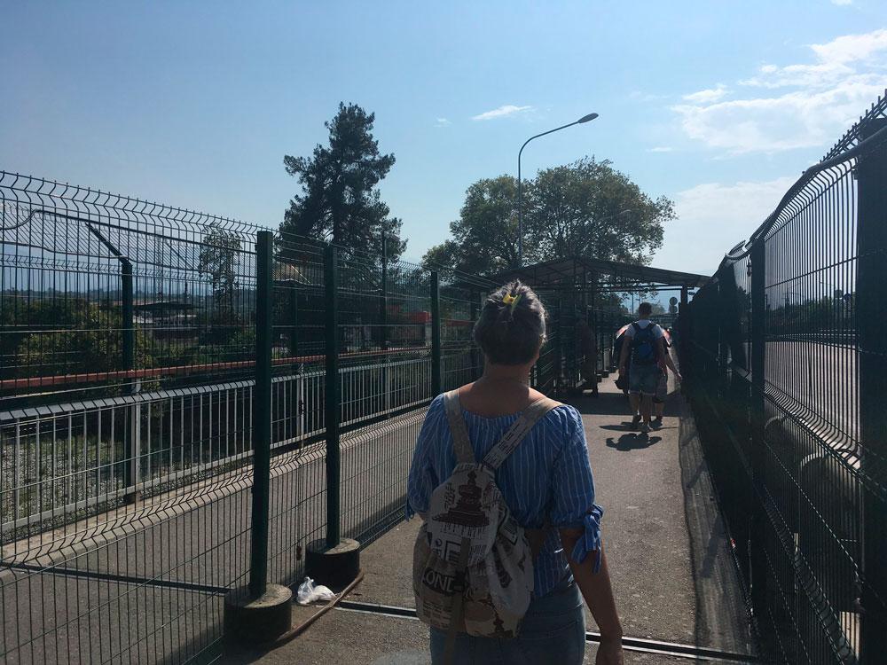 Прохождение границы в Абхазии