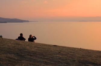 Фото заката в Хужире