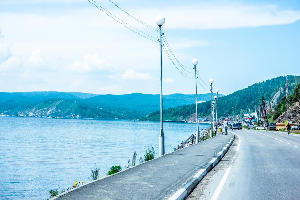 Картинка дороги в поселок Листвянка