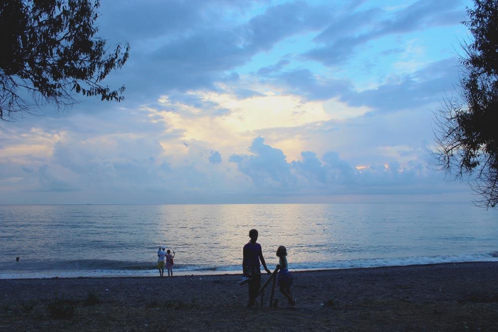 Фото пляжа на курорте Судак